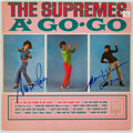 Music Memorabilia:Autographs and Signed Items, The Supremes Signed A' Go-Go Vinyl LP (Motown, 649)....