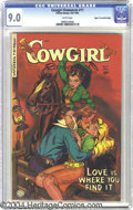Golden Age (1938-1955):Western, Cowgirl Romances #11 Mile High pedigree (Fiction House, 1952) CGC VF/NM 9.0 White pages. This issue has plenty of romantic a...