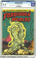 Golden Age (1938-1955):Horror, Forbidden Worlds #9 Bethlehem pedigree (ACG, 1952) CGC NM 9.4 Off-white to white pages. The ghosts of an Indian warrior and ...