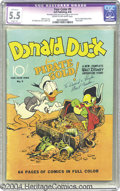 Golden Age (1938-1955):Funny Animal, Four Color #9 Donald Duck Finds Pirate Gold (Dell, 1942) CGC Apparent FN- Slight (A) Cream to off-white pages. No one did th...
