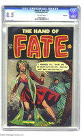 Golden Age (1938-1955):Horror, The Hand of Fate #16 Bethlehem pedigree (Ace, 1953) CGC VF+ 8.5Off-white pages. This is the highest grade that CGC has assi...