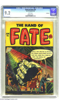 Golden Age (1938-1955):Horror, The Hand of Fate #18 (Ace, 1953) CGC NM- 9.2 White pages. This isthe only copy of this issue that CGC has certified to date...