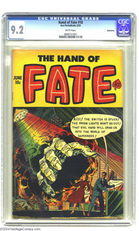 The Hand of Fate #18 (Ace, 1953) CGC NM- 9.2 White pages. This is the only copy of this issue that CGC has certified to...