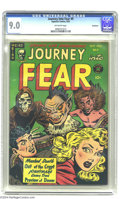 Golden Age (1938-1955):Horror, Journey Into Fear #9 Bethlehem pedigree (Superior, 1952) CGC VF/NM9.0 Off-white pages. This is the highest-graded copy of t...