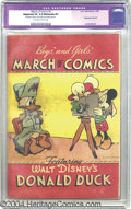 Golden Age (1938-1955):Funny Animal, March of Comics #4 Donald Duck (King Features Syndicate, 1947) CGCApparent VG 4.0 Moderate (P) Off-white to white pages. Wh...