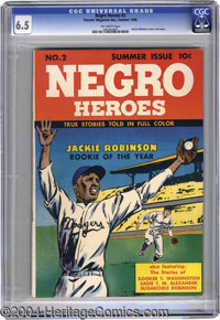 Negro Heroes #2 (Parents' Magazine Institute, 1948) CGC FN+ 6.5 Off-white pages. Celebrating the achievements of African...