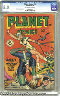 "Golden Age (1938-1955):Science Fiction, Planet Comics #54 (Fiction House, 1948) Condition: VF. The ""bigguns"" of Fiction House contributed to this issue, with Matt ..."