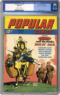Popular Comics #79 Mile High pedigree (Dell, 1942) CGC NM 9.4 Off-white to white pages. Many a star of the comic strips...