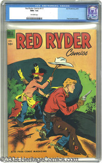 Red Ryder Comics #117 (Dell, 1953) CGC NM+ 9.6 Off-white pages. The vivid colors on this stunning Fred Harman cover are...
