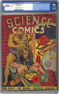 Science Comics #4 (Fox, 1940) CGC FN 6.0 Cream to off-white pages. Is this a Simon and Kirby comic? In a manner of speak...