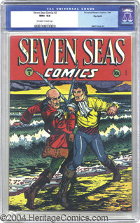 Seven Seas Comics #2 Big Apple pedigree (Universal Phoenix Feature, 1946) CGC NM+ 9.6 Off-white to white pages. If swash...