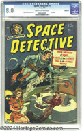 Golden Age (1938-1955):Science Fiction, Space Detective #1 Bethlehem pedigree (Avon, 1951) CGC VF 8.0 Creamto off-white pages. Cover artist Wally Wood (he's in the...
