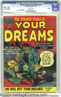 Golden Age (1938-1955):Science Fiction, Strange World of Your Dreams #4 Bethlehem pedigree (Prize, 1953)CGC VF/NM 9.0 Off-white pages. What a great idea for a comi...
