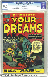 Strange World of Your Dreams #4 Bethlehem pedigree (Prize, 1953) CGC VF/NM 9.0 Off-white pages. What a great idea for a...