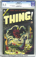 Golden Age (1938-1955):Horror, The Thing! #17 River City pedigree (Charlton, 1954) CGC VF+ 8.5Off-white to white pages. Steve Ditko conjures up a bewitchi...