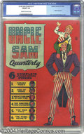 Golden Age (1938-1955):Superhero, Uncle Sam Quarterly #1 (Quality, 1941) CGC FN/VF 7.0 Cream to off-white pages. This issue's patriotic fare is brought to us ...