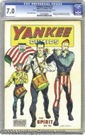 """Golden Age (1938-1955):Superhero, Yankee Comics #2 (Chesler, 1941) CGC FN/VF 7.0 Off-white to white pages. Just so readers wouldn't take the """"Yankee"""" in this ..."""