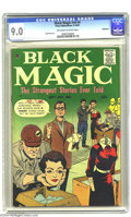 Golden Age (1938-1955):Horror, Black Magic V8#4 Bethlehem pedigree (Prize, 1961) CGC VF/NM 9.0Off-white to white pages. Bob Powell art. A certificate from...
