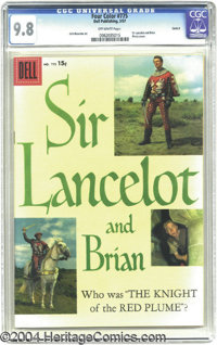 Four Color #775 Sir Lancelot and Brian - Circle 8 pedigree (Dell, 1957) CGC NM/MT 9.8 Off-white pages. The attributes of...