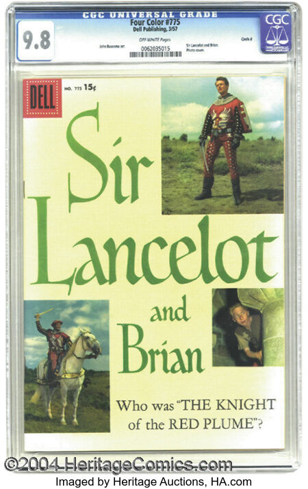 Four Color #775 Sir Lancelot and Brian - Circle 8 pedigree (Dell, 1957) CGC NM/MT 9.8 Off-white pages. The attributes of thi...