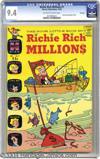 Richie Rich Millions #7 File Copy (Harvey, 1963) CGC NM 9.4 Off-white to white pages. Here's a gorgeous NM copy of this...