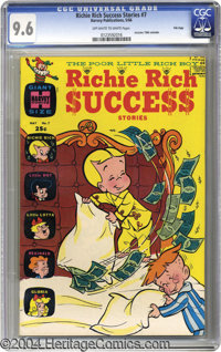 Richie Rich Success Stories #7 File Copy (Harvey, 1966) CGC NM+ 9.6 Off-white to white pages. This book's cover price of...