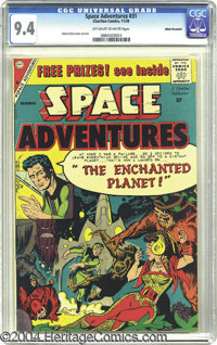 Space Adventures #31 White Mountain pedigree (Charlton, 1959) CGC NM 9.4 Off-white to white pages. Steve Ditko was a mul...