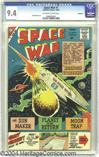 Space War #1 Bethlehem pedigree (Charlton, 1959) CGC NM 9.4 Off-white to white pages. Dick Giordano's meteoric U.N. Spac...