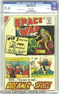 "Silver Age (1956-1969):Science Fiction, Space War #4 Bethlehem pedigree (Charlton, 1960) CGC NM 9.4 Off-white pages. Steve Ditko's ""Dreamer in Space"" three-panel co..."