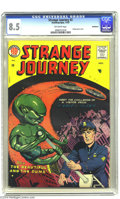 Silver Age (1956-1969):Horror, Strange Journey #2 Bethlehem pedigree (Steinway Publications, 1957)CGC VF+ 8.5 Off-white pages. UFO cover. A certificate of...
