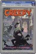 """Magazines:Horror, Creepy #7 (Warren, 1966) CGC NM 9.4 Cream to off-white pages. Frank Frazetta's unforgettable Dracula vs. Wolfman """"Duel of th..."""
