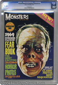 Famous Monsters of Filmland Yearbook #nn (Warren, 1969) CGC NM 9.4 Off-white pages. The Phantom of the Opera (man, does...