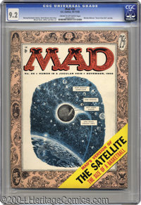 Mad #26 (EC, 1955) CGC NM- 9.2 Cream to off-white pages. This third magazine-sized issue of Mad is notable for a spoof o...
