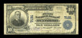National Bank Notes:West Virginia, Pennsboro, WV - $10 1902 Plain Back Fr. 624 The First NB Ch. # 7191. ...