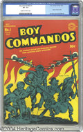 Golden Age (1938-1955):War, Boy Commandos #1 (DC, 1942) CGC VF- 7.5 Cream to off-white pages. Joe Simon and Jack Kirby were busy guys back in the great ...