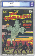 Golden Age (1938-1955):War, Boy Commandos #16 (DC, 1946) CGC NM 9.4 Off-white pages. After asuccessful beginning in Detective Comics, Simon and Kirby's...