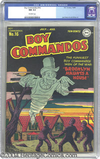 Boy Commandos #16 (DC, 1946) CGC NM 9.4 Off-white pages. After a successful beginning in Detective Comics, Simon and Kir...