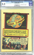 """Golden Age (1938-1955):Miscellaneous, Comic Cavalcade Giveaway #nn """"One Hundred Years Of Co-Operation"""" (DC, 1944) CGC VF 8.0 Off-white to white pages. Here's an u..."""