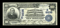 National Bank Notes:Pennsylvania, Wilkes-Barre, PA - $10 1902 Plain Back Fr. 626 The Luzerne CountyNB Ch. # (E)9235. ...