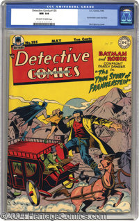 "Detective Comics #135 (DC, 1948) CGC NM 9.4 Off-white to white pages. Batman and Robin go back in time to find out ""..."