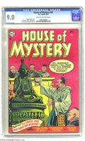 Golden Age (1938-1955):Horror, House of Mystery #30 (DC, 1954) CGC VF/NM 9.0 Cream to off-whitepages. Ruben Moreira cover. Curt Swan, Jim Mooney, and More...