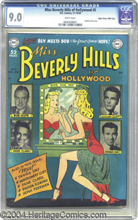 Miss Beverly Hills of Hollywood #5 Mile High pedigree (DC, 1949) CGC VF/NM 9.0 White pages. How can you beat this deligh...