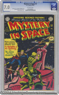 Golden Age (1938-1955):Science Fiction, Mystery in Space #3 (DC, 1951) CGC FN/VF 7.0 Off-white pages.Carmine Infantino's electrifying Knights of the Galaxy cover a...