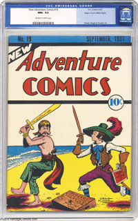New Adventure Comics #19 Mile High pedigree (DC, 1937) CGC NM+ 9.6 Off-white to white pages. A NM+ 9.6 comic is great to...