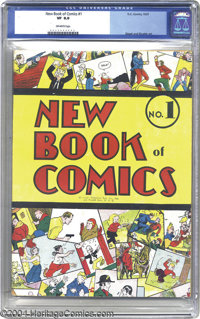 New Book of Comics #1 (DC, 1937) CGC VF 8.0 Off-white pages. This is the first regular-sized comic annual, and the secon...