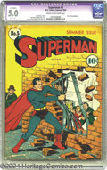 Golden Age (1938-1955):Superhero, Superman #5 (DC, 1940) CGC Apparent VG/FN 5.0 Slight (P) Cream to off-white pages. Lex Luthor had a full head of hair way ba...