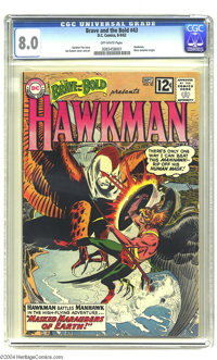 The Brave and the Bold #43 Hawkman (DC, 1962) CGC VF 8.0 Off-white pages. Joe Kubert cover and art. Hawkman's origin is...