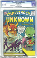Silver Age (1956-1969):Science Fiction, Challengers of the Unknown #1 (DC, 1958) CGC FN 6.0 Cream tooff-white pages. What was it about miniaturized humansthat...