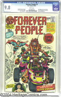 Bronze Age (1970-1979):Superhero, The Forever People #1 (DC, 1971) CGC NM/MT 9.8 White pages. JackKirby's quasi-hippie heroes would have been entertaining in...