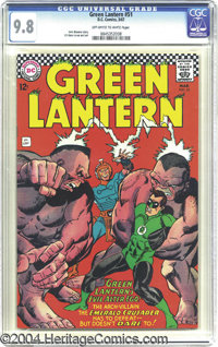 Green Lantern #51 (DC, 1967) CGC NM/MT 9.8 Off-white to white pages. Here's a gorgeous, near-perfect copy of this Silver...